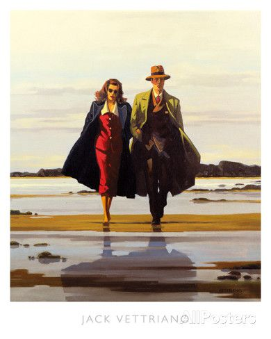 $20, The Road to Nowhere Poster by Jack Vettriano at AllPosters.com Size without border: 14.5 x 17 in  16 x 20 in