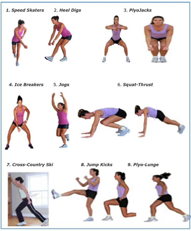 Nine good cardio moves! | PONTE EN FORMA | Pinterest ...