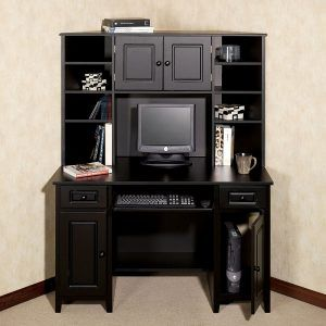 Black Corner Desk With File Cabinet