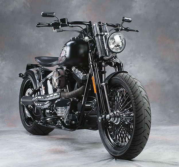 """""""Sweet Custom Harley Davidson Cross Bones"""" - My dream bike with a few alterations! I like this position for the headlight."""
