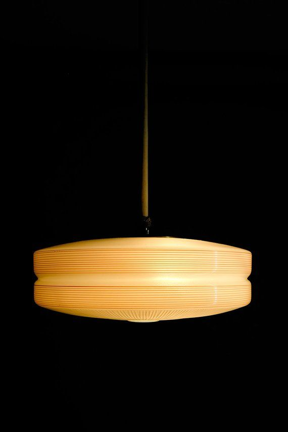 Vintage Deckenlampe Ufolampe Stablampe 50er Jahre Ddr Etsy Vintage Lamps Lamp Novelty Lamp