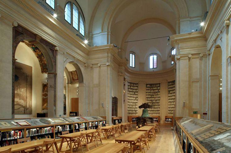 Biblioteca d'Arte e di Storia di San Giorgio in Poggiale a Bologna.  PROGETTO E DIREZIONE DEI LAVORI di restauro: arch. Francisco Giordano