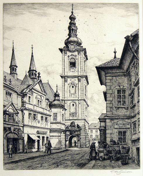 The White Tower in Klatovy, 1938 #plzen2015 #baroko #baroque