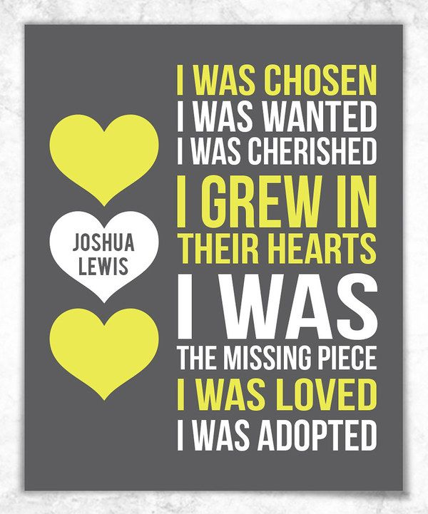 Look at this Adoption Personalized Print on #zulily today!