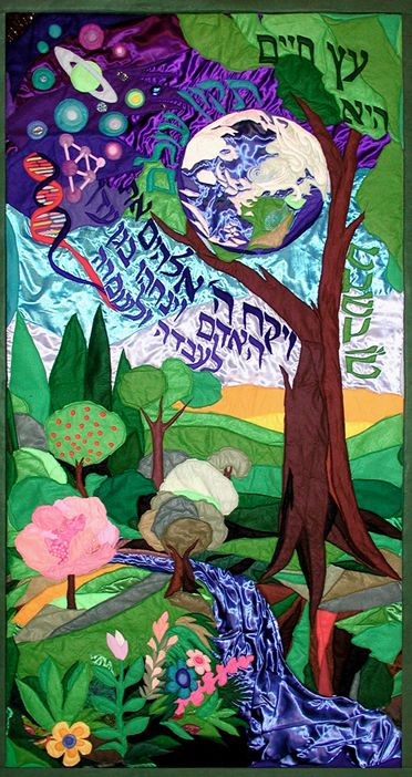 The tree of life - Original Tapestry by Bracha Lavee