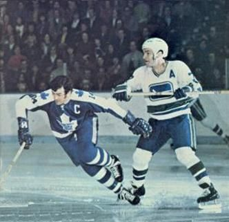 Andre Boudrias, Vancouver Canucks vs. Dave Keon, Toronto Maple Leafs.