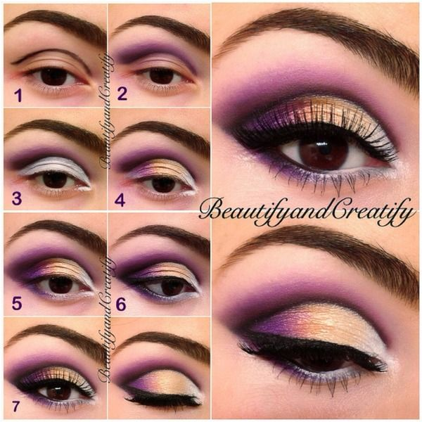 Purple sunset look pictorial