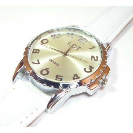 Reloj blanco esfera maxi - BisuteriaDeModa.es - BDM -