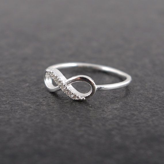 Infinity Sterling Silver Ring by bkandjio on Etsy, $28.00