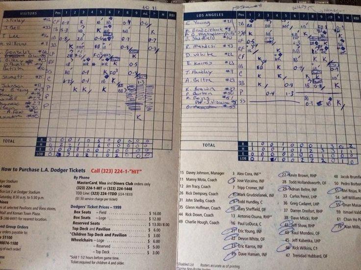 23 best Scorecards images on Pinterest Baseball, Baseball - baseball score sheet