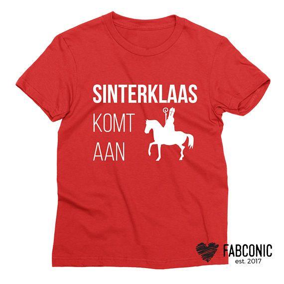 Sinterklaas kinderen t-shirt Sinterklaas komt aan Nederland
