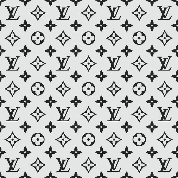 Louis Vuitton Pattern Lv 07 Grey Art Print By Tuscan Afternoon All Prints Are Professionally Printed Packaged Louis Vuitton Pattern Grey Art Print Grey Art