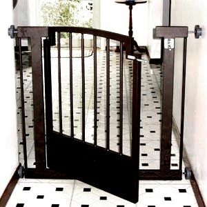 Get your home ready for the holidays. Wrought iron indoor dog gate will keep your dog safely contained in a specific area while looking attractive in your home.
