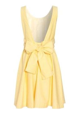 low back and bowOpen Back Dresses, Summer Dresses, Backless Dresses, Yellow Dresses, Bridesmaid Dresses, Easter Dresses, Open Backs, Sundresses, Big Bows