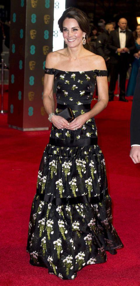 Kate Middleton BAFTA red carpet