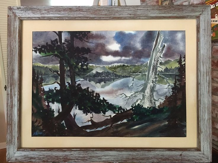 WATERCOLOR By Starving Artist PAUL BLAINE HENRIE Signed 1957 Impressionism