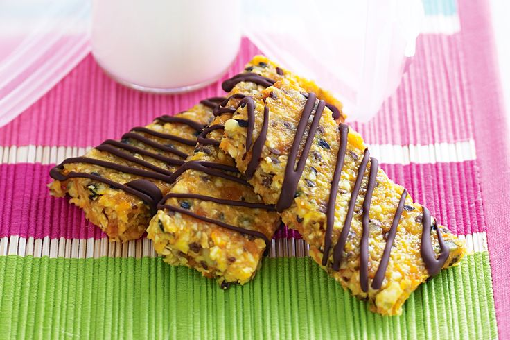 This crunchy oat slice is the perfect energy boost for tired kids after school.