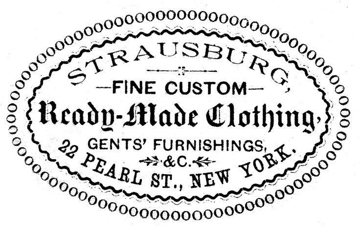Vintage Clip Art - Clothing Ad - Oval Frame - The Graphics Fairy for the top of the Singer frame