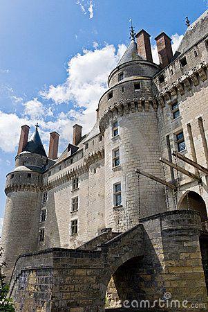 Chateau Langeais Entrance. Loire Valley, France