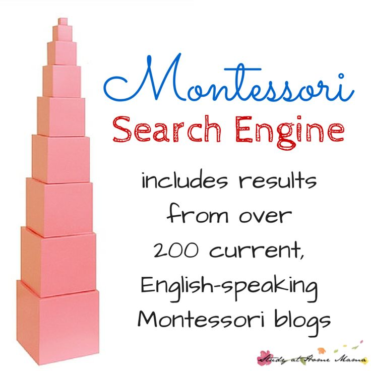 Montessori Search Engine hosted by Study at Home Mama includes results from over 200 current, English-speaking Montessori blogs