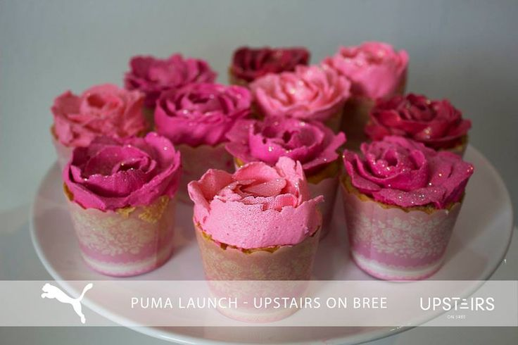 Upstairs on Bree  #catering #event #foodie #yum #cupcakes #pink #glitter #food #function #puma