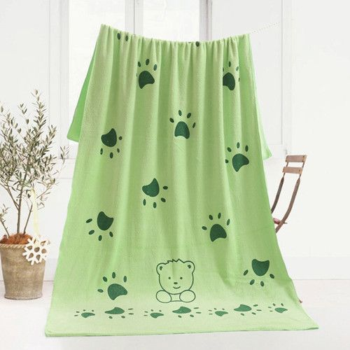 70 * 140 Cm New Arrival Cute Rabbit Microfiber Blanket Beach Bath Towel for Bathing Swimming Absorbent Drying Home Textile