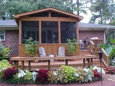 enclosed decks - Google Search love the deck style. It's a dream, but that;s ok right?