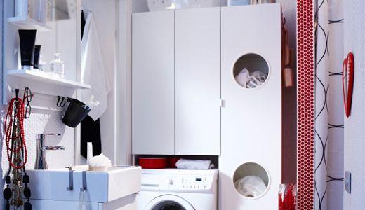 Badezimmermöbel, wie z.B. LILLÅNGEN Wäscheschrank, weiß