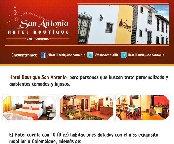 Hotel Boutique San Antonio Cali: Viaja a Cali y Conoce El Hotel Boutique San Antoni...