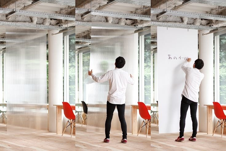 open source furniture Polycarbonate panels enable to edit space / ポリカーボネートパネルのパーテション Using polycarbonate panels, you can edit the space as your purpose when you u...
