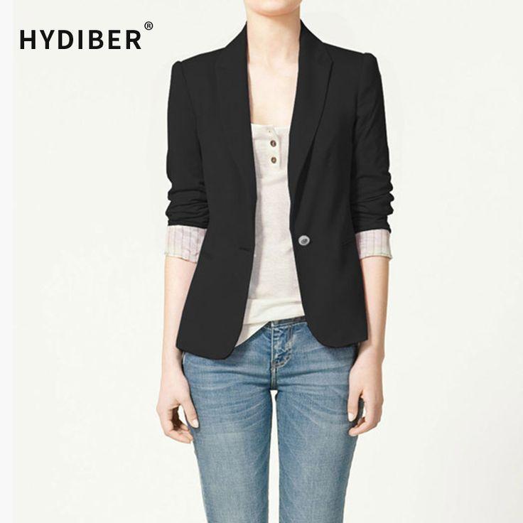 패션 재킷 재킷 여성 정장 접이식 긴 소매 옷깃 코트 줄 지어 스트라이프 하나의 버튼 보그 블레이저 재킷 XS-XLZA