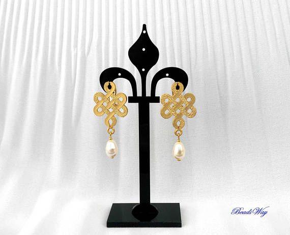 Earrings Swarovski/Earrings gold/Earrings of perle/Orecchini