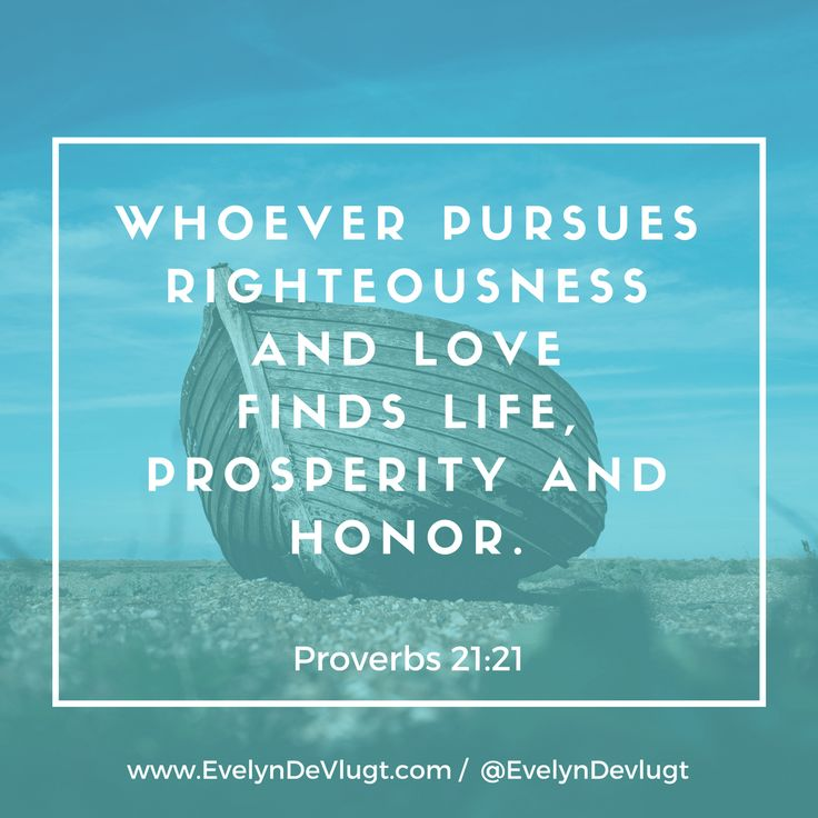 Righteousness Leads to Life