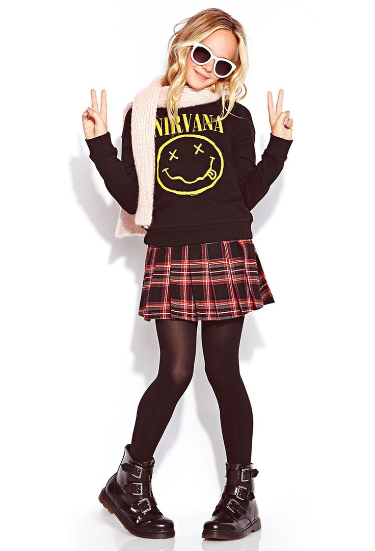 Nirvana Sweatshirt (Kids) | FOREVER21 girls - 2000072342