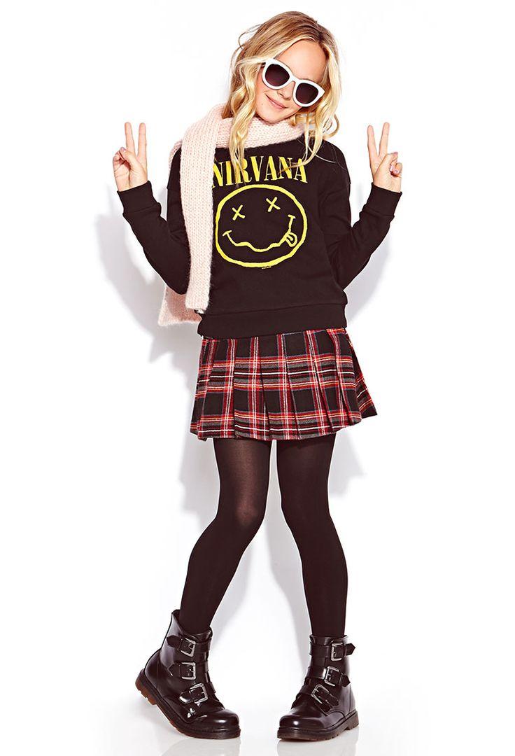 Nirvana Sweatshirt (Kids)   FOREVER21 girls - 2000072342