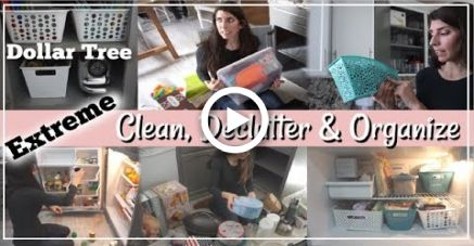 Extreme Clean, Organize & Declutter With Me | Dollar Tree Organization | Momma From