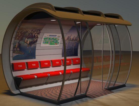Pontos de ônibus supermodernos