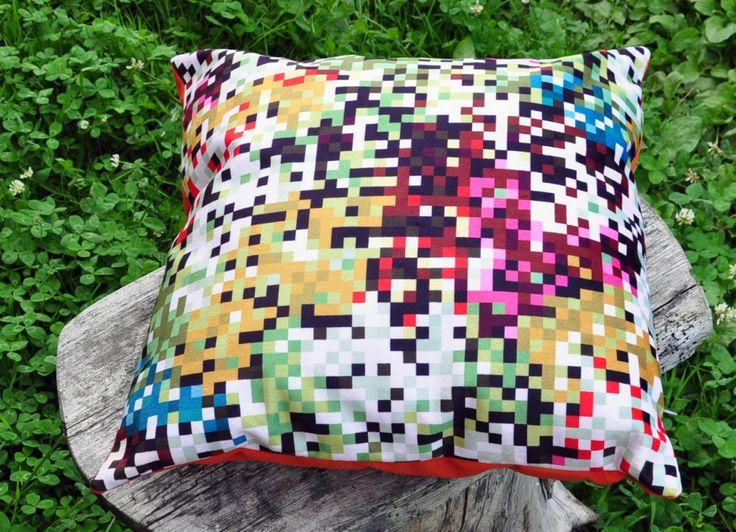 poduszka dekoracyjna 40x40 piksele zielone