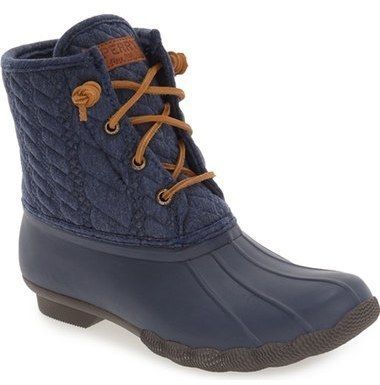 SPERRY 'SALTWATER' DUCK BOOT (WOMEN) , fashion, clothing, clothes, style, fall fashion