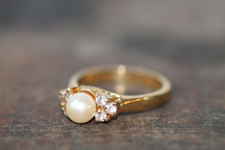 Vintage Pearl Ring. $16.00, via Etsy.
