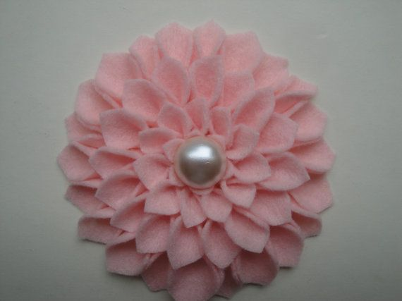 Felt Flower with button center  you pick the by 2SweetBeans, $5.00
