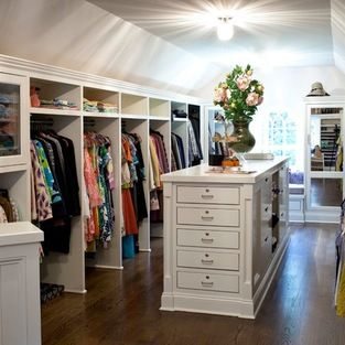 Attic Closet, nice island love the built ins