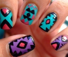Native American nails mandyfeathered