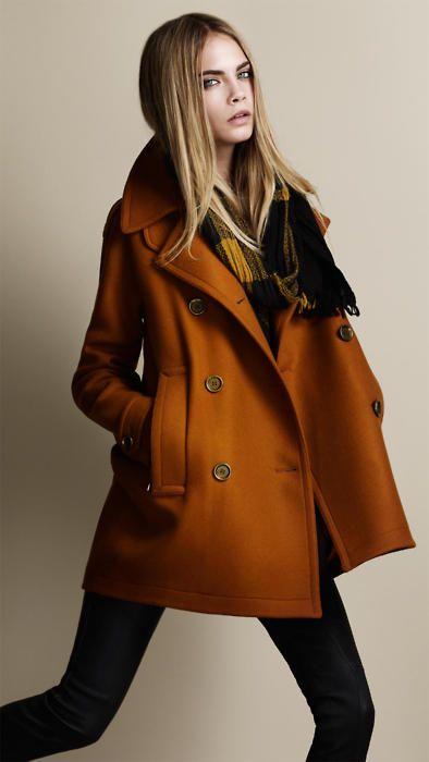 vampire model with awesome orange coat