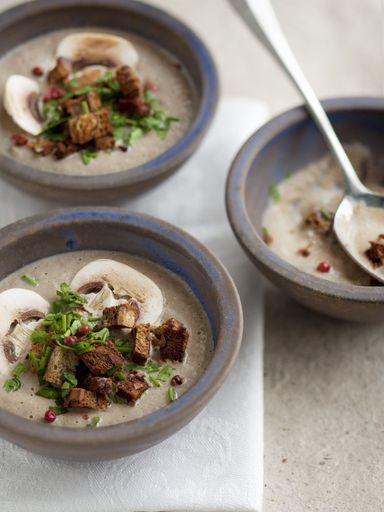 Soupe de champignons facile et délicieuse