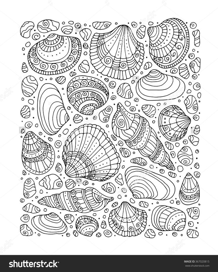 Coloring Book Pages Of Fish : 930 best ✐♋adult colouring~under the sea ~ fish~mermaids~shells