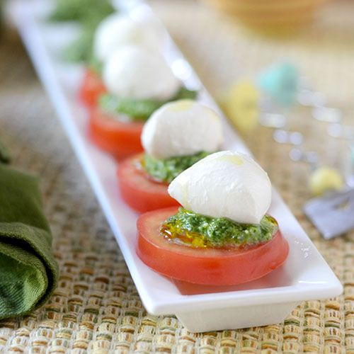 Tomato Caprese with Pesto - Feed Your Soul Too