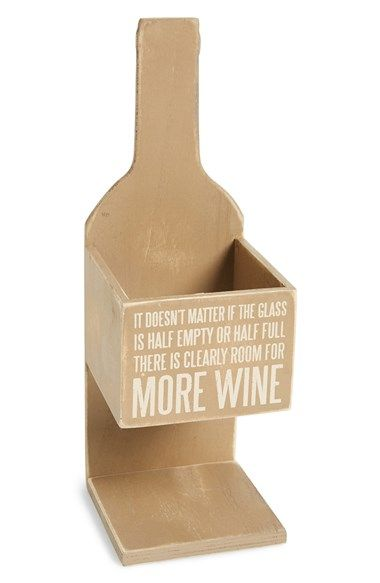 super cute wine bottle box - great hostess gift