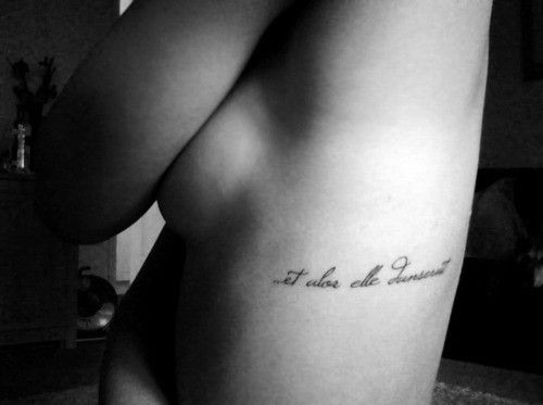 "tattoo idea – ""and so she would dance"" in french"