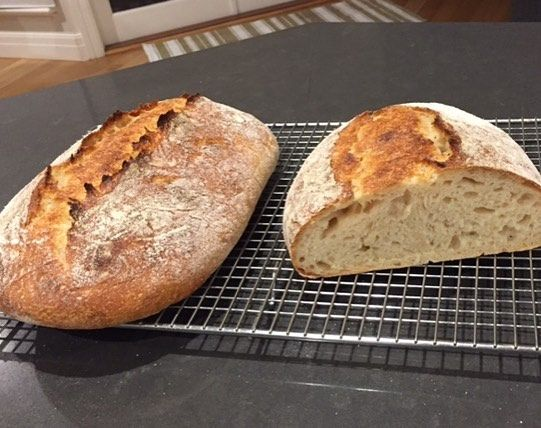 Love to get sourdough photos from my students! Thanks Tricia for sending me this picture of your white spelt sourdough - it looks amazing!